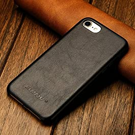 JISONCASE Premium Leather Case for iPhone 8/iPhone 8 Plus