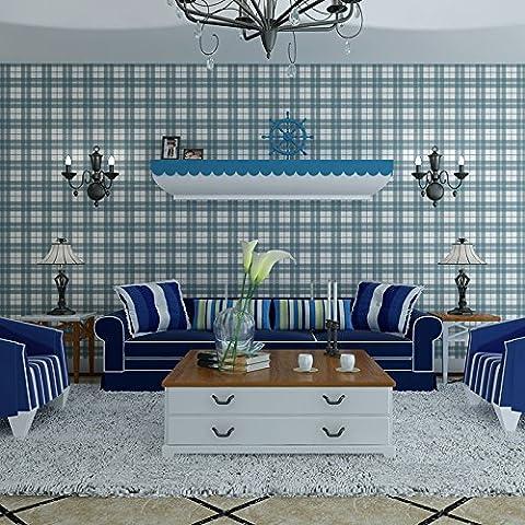 Temps Silhouettes Rétro Salon Salle à manger Chambre fond papier peint UK Vent Plaid Papier peint rayures verticales