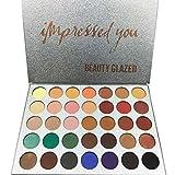 Beauty Glazed La polvere dell'ombra di occhio della gamma di colori dell'ombretto 35 colori compone le estetiche impermeabili dell'ombra di occhio
