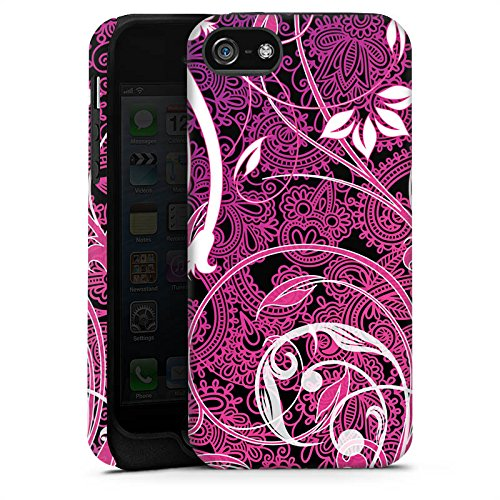 Apple iPhone X Silikon Hülle Case Schutzhülle Floral Ornament Blumen Tough Case matt