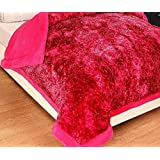 HOMECRUST Rajai Quilt Heavy Double-Bed Comforter Blanket for Winter Season - Red