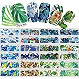 Dragonaur 1 Bogen 12 Designs Blatt Blumen Muster Nagel Sticker Wasser Transfer Nail Art Sticker Maniküre Werkzeug