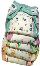 NAVI Cushioned/Padded Cotton Nappies for 0 to 3 Months, Small (NAVIENTCN1, Multicolour)-Set of 5