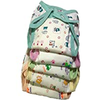 NAVI Cushioned/Padded Cotton Nappies for 0 to 3 Months (Pack of 5)