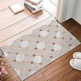 Jkimiiscute Teppich Eingang Marokkanische Marmor Geometrische Muster Badezimmer Fußmatte Teppich Fußmatte für Den Innenbereich Anti Skid Shag Shaggy Bad Dusche Matten 59,9x 39,9cm L x W