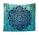 Indischer Mandala Wand Teppich Decke Picknick Wandteppich Wanddeko 150cm