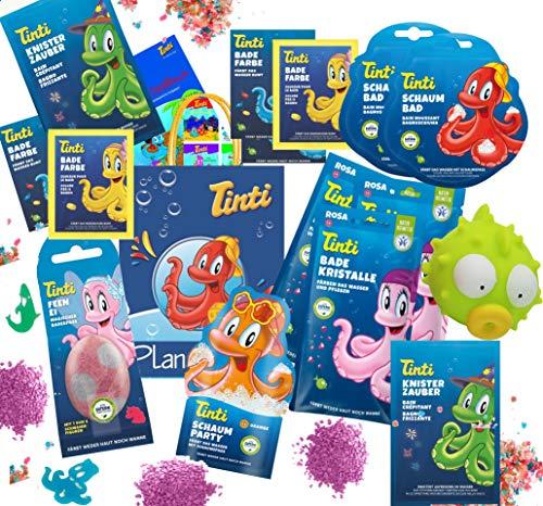 Baby Calendula Bad (Tinti Planschtüte Sommer XL mit Dino-Ei für Jungs oder Feen-Ei für Mädchen (Mädchen))