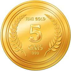 A Himanshu 5 gm, 24k (999) Yellow Gold Precious Coin