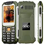 VKworld Stone V3S Daily Shcokproof Waterproof Dustproof Outdoor GSM Mobile Phone 2.4 Inch Dual SIM Slot Keyboard Bluetooth Big Button Dual LED Flashlight,Green
