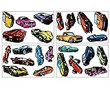 plot4u 24 Sportwagen Set Wandtattoo Auto USA Car Wandaufkleber in 3 Größen (4x16x26cm mehrfarbig)