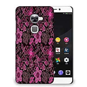 Snoogg Pink Floral Black Pattern Designer Protective Phone Back Case Cover For Samsung Galaxy J1