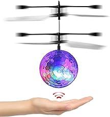 RC fliegender Ball, Kinderspielzeug RC Infrarot Induktionshubschrauber mit LED Leuchtung und Musik, RC Spielzeug Ball Beste Weihnachtsgeschenk für Kinder