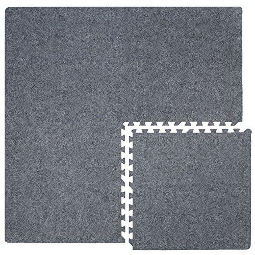 Eyepower 4 Teppichfliesen mit 8 Abschlussleisten erweiterbare Steckmatten Puzzlematten Bodenauflagen...