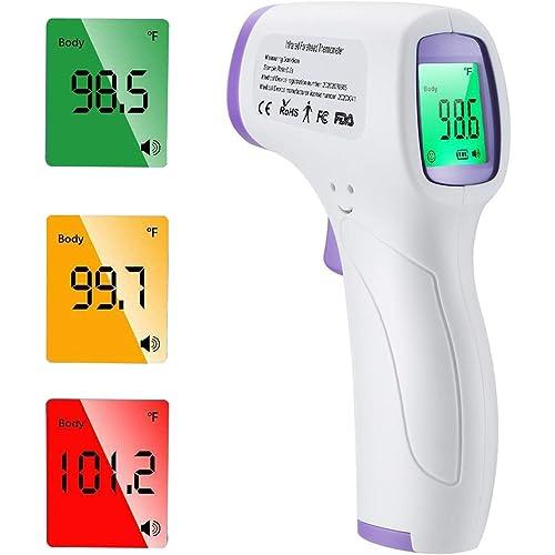 Termometro Frontale, Termometro a Infrarossi Portatile Senza Contatto, Letture Istantanee Accurate, Adatto a Bambini, Adulti, Cibo