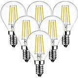 ANWIO 4W E14 Ampoule LED Filament G45, 470 lumens Equivalente à Ampoule Halogène Vintage 40W, 2700K Blanc Chaud, Non réglable