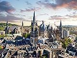 Artland Qualitätsbilder I Poster Kunstdruck Bilder 80 x 60 cm Städte Deutschland Aachen Foto Ocker B7LD Aachen Panorama