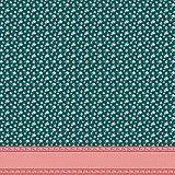 Soimoi Vert Batiste de Coton en Tissu Point, Feuilles et Fleurs azalée Panneau Tissu a Coudre Imprime par Metre 56 Pouce Large