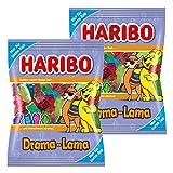 Haribo Drama-Lama, 2er Set, Gummibärchen, Weingummi, Fruchtgummi mit Schaumzucker, Tüte, 175 Gramm