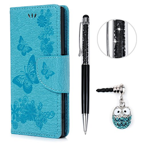 Preisvergleich Produktbild Sony Xperia X Compact Hülle, KASOS Sony Xperia X Compact Case Bunt Gemalt Book Type PU Leder +TPU Innere Tasche Brieftasche Etui und Magnetverschluss Ledertasche Schutzhülle Cover Handyhülle