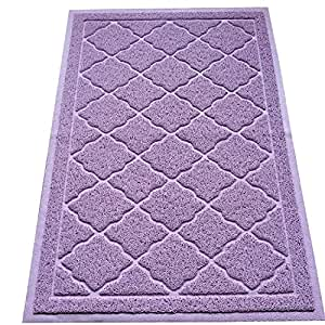 Easyology Premium Cat Litter Mat - XL super size - Best extra large Scatter ricambio tappetini Kitty lettiera per gatti Tracking lettiera fuori loro box Lavender