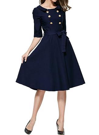 Abendkleid blau 48