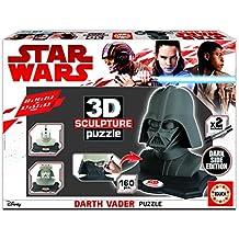 Star Wars - 3D Sculpture Puzzle Darth Vader, Black Side Edition (Educa Borrás 17334.0)