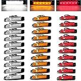 30pcs Auto-externe Lichter DC führte 24V 6 SMD LED Selbstauto-Bus-LKW-Lastwagen-Seiten-Markierungs-Anzeige niedriges geführtes Anhänger-Licht-hintere Seiten-Lampe, die rotes gelbes Weiß einschließt