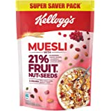 New Kellogg's Muesli with 21% Fruit, Nut & Seeds |Tastier Now with Cranberries and Pumpkin Seeds |Breakfast Cereal | High in