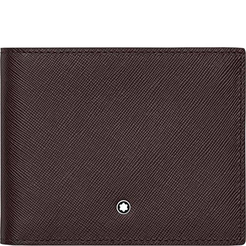 """a Montblanc cartera fabricado en italiano de piel becerro con forro interior de jacquard. Esta cartera cuenta con bolsillos 2billetera, 2bolsillos, y 6ranuras de tarjeta de crédito. Tamaño: 4.5""""x 3.6."""""""