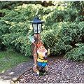 Outdoor Garden Gnome Solar Lampe Post Statue–Orange Hat von Garden Gnome - Du und dein Garten