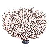 sourcingmap® Acquari paesaggio marino artificiale Corallo ornamento Pianta acquatica rosso 27 centimetri Altezza