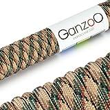 Ganzoo - Corda di salvataggio universale in Paracord 550 resistente con nucleo in nylon, 250 kg, lunghezza 15 metri, colore camouflage