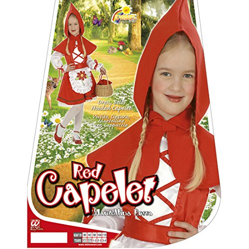 Kinder Rotkäppchenkostüm Märchen Kinderkostüm 104 cm 2-3 Jahre Red Riding Hood Märchenkostüm Rotkäppchen Kostüm Karneval Kostüme Mädchen Kleinkinder Faschingskostüm Mädchenkostüm Verkleidung Fasching