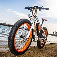 RICH BIT®RT-012 1000W Bicyclette électrique eBike Cruiser Vélo Cyclisme 48V * 17Ah Batterie haute capacité 7 Gears Suspension Fourche Double Frein à disque mécanique 4.0 Fat Tire Snow Bike Shimano Dérailleur Long Durée Nouvelle peinture de mode