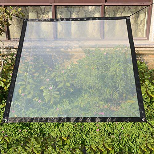 SUREH 2 x 3 m wasserdichte transparente Plane mit Ösen Vordächer und Planen strapazierfähige transparente wetterfeste Plane faltbar Pflanzendach Regenschutz Seil enthalten