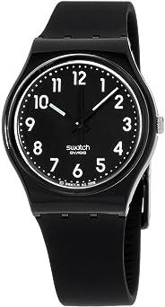 swatch Women's GB247 Quartz Black Dial Luminous Plastic Watch