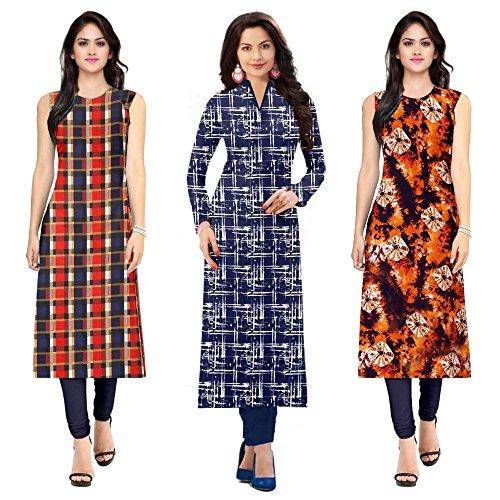 Pramukh Fashion Women\'s crape kurtis (1023.1058.1052)_Free Size semi stich