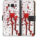 Samsung Galaxy J7 (2016) Tasche Hülle Flip Case Blut Halloween Gothic