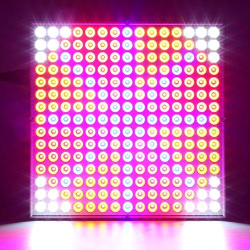 amzdeal Pflanzenlampe 225 LEDs Pflanzenlichter Rot Blau Weiß Orange 45W