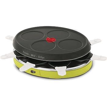 Tefal RE138O12 Appareil à Raclette Déco Colormania 8 Coupelles