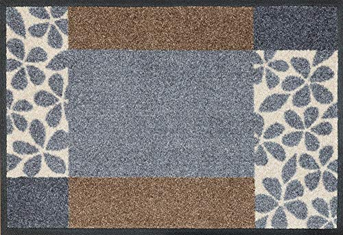wash+dry Fußmatte, Polyester, Grau, 40 x 60 cm