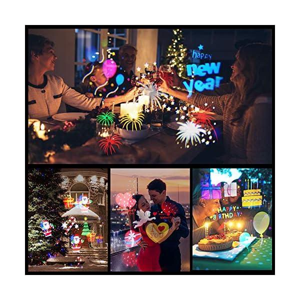 Proiettore Luci Natale Esterno, InnooLight Proiettore Natale con 17 diapositive a tema colorato, IP65 Impermeabile… 3 spesavip