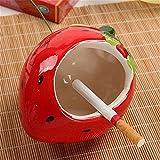 Tendenza moda personalità creative grazioso mini frutta Posacenere in ceramica, fragola 12 * 10.5cm