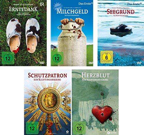 Die Kluftinger Krimis - 5 DVDs (Erntedank, Milchgeld, Seegrund, Schutzpatron, Herzblut) im Set - Deutsche Originalware [5 DVDs]