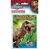 Jurassic monde Invitations, Lot de 8