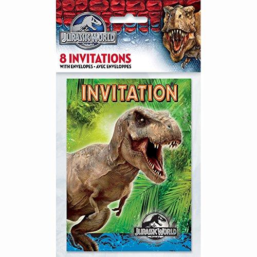 Party Invitaciones únicos Jurassic World Party (paquete de 8)