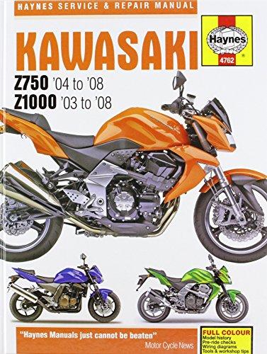 Kawasaki Z750 and Z1000 Service and Repair Manual: 2003 to 2008 (Haynes Service and Repair Manuals)