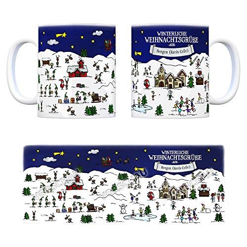 Bergen (Kreis Celle) Weihnachten Kaffeebecher mit winterlichen Weihnachtsgrüßen - Tasse, Weihnachtsmarkt, Weihnachten, Rentier, Geschenkidee, Geschenk - 4