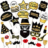 #3: Party PropzTM Birthday Photo Booth Props 29 Pcs/ Birthday Party Props for Kids / Happy Birthday Party Supplies / Birthday Decoration / Birthday Photo Booth