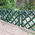3,5 m Gartenzaun Zierzaun Jägerzaun grün 45 cm Zaun Schmuckzäune Wegbegrenzung von BJ auf Du und dein Garten